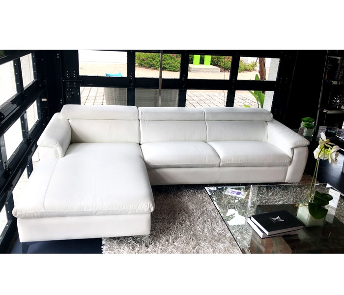 Sectional white Leather Sectional RF