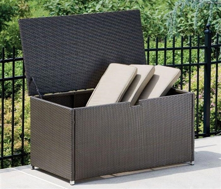 Trivoli Modern Storage Box in Espresso