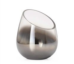 Smoke Mirror Cone Vase Candle Holder  - Angled
