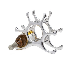 Wishbone Aluminum 6 Bottle Modern Wine Rack