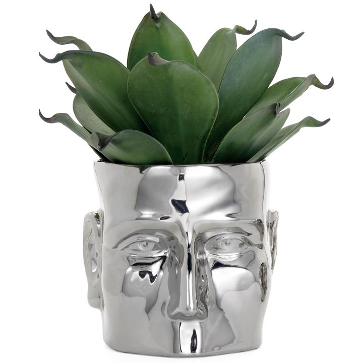 Accessories Face Chrome Vase Mh2g