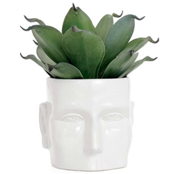 Face White Modern Vase - Large
