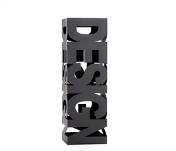 Design Cutout Umbrella Stand - BLACK - MIA FLOOR SAMPLE