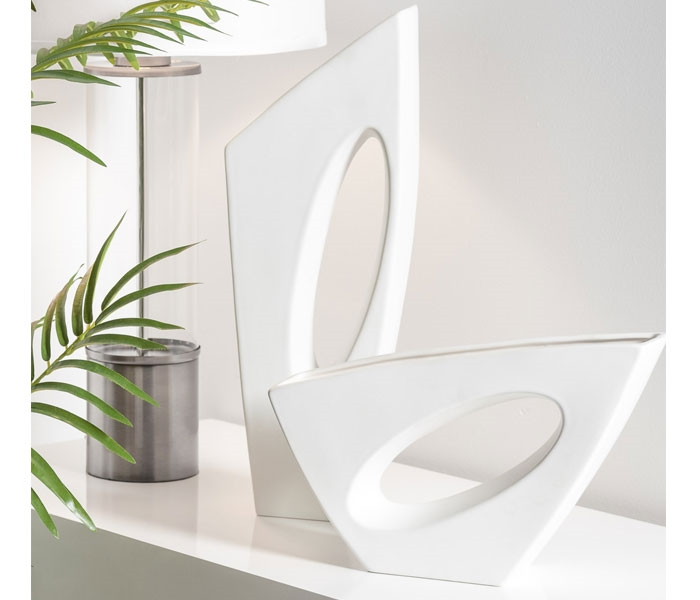 Vector Ceramic Vases - Matte White