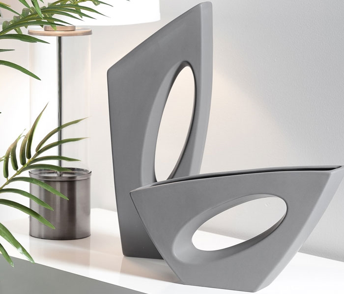 Vector Ceramic Vases - Matte Grey