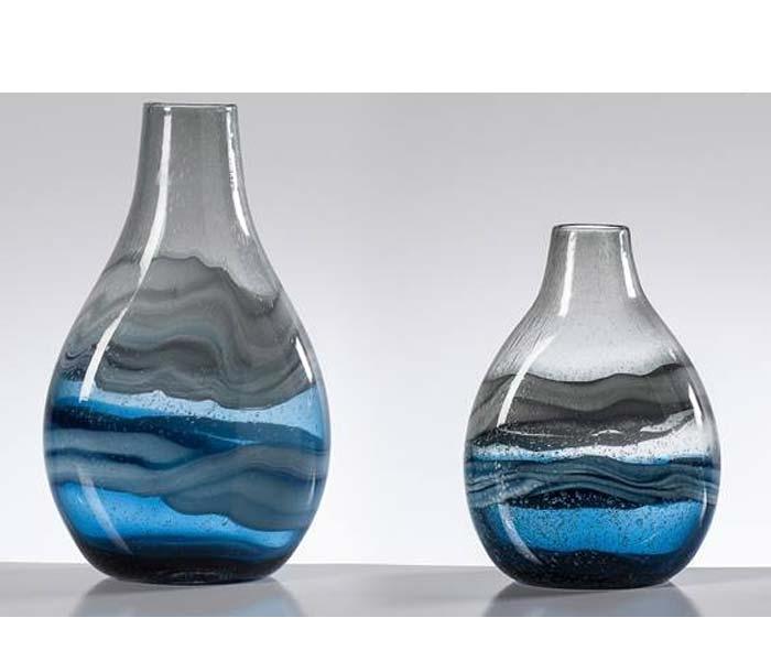Accessories Andrea Swirl Glass Bulb Vases Mh2g