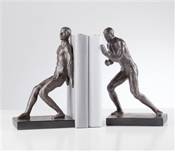 Athletic Resin Men Bookends Set of Two
