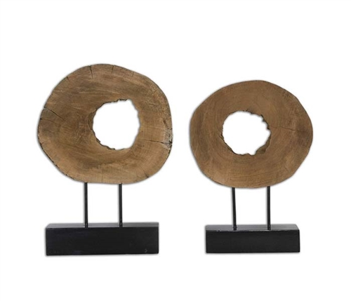 Ashlea Modern Log Sculptures Set of 2
