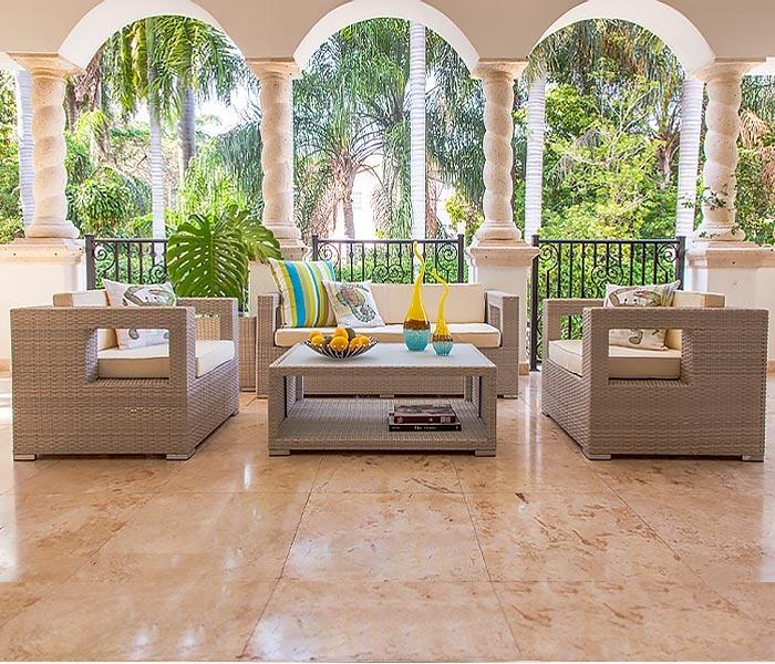 Mallorca Modern Outdoor Furniture In Light Grey
