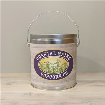 Coastal Maine Popcorn One Gallon Popcorn Tin