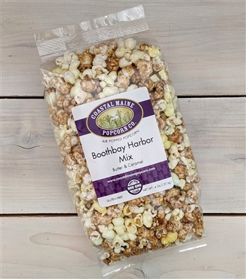 Old Fashioned Butter Popcorn with Caramel Popcorn
