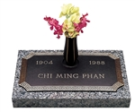 Bronze Memorial Marker With Dynasty Serenity Design