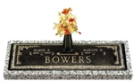 Companion Bronze Grave Marker in Ivy Design