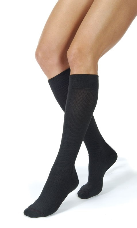fb13fa1e2f Bsn Medical Opaque 30-40 Knee Compression Stockings Closed Toe Classic Black