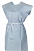 McKesson 18-10847 One Size Fits Most Blue Adult NonSterile Patient Exam Gown