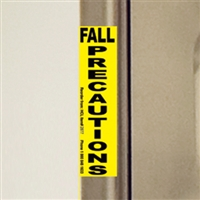 Fall Precautions Magnet, Yellow
