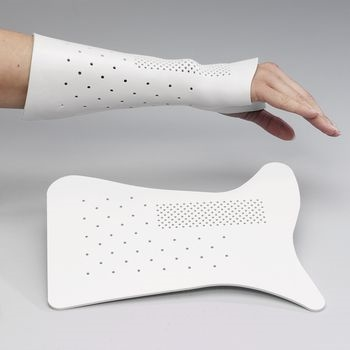 Rolyan Ulnar Gutter Wrist Splint White Pack Of 3
