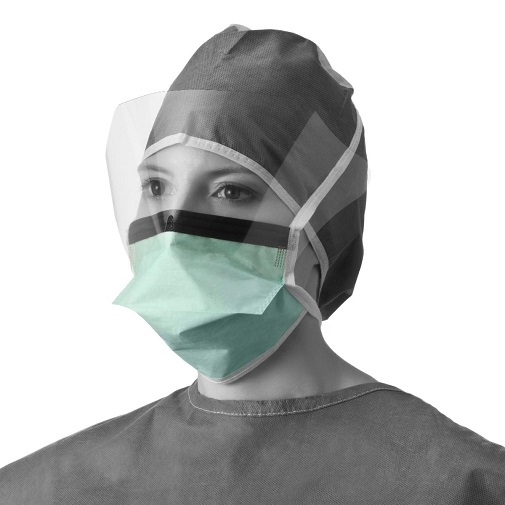 Fog Shield Anti Medline Chamber-style Surgical Non27411 Face With Eyeshield Mask