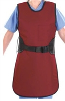 AliMed Lightweight Lead Coat Apron Extra Large, Burgundy