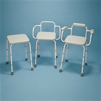 Sammon Preston Adjustable Stool with Padded Back And Armrests