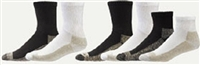 AliMed Copper Ankle Extra Cushion Socks Color : White