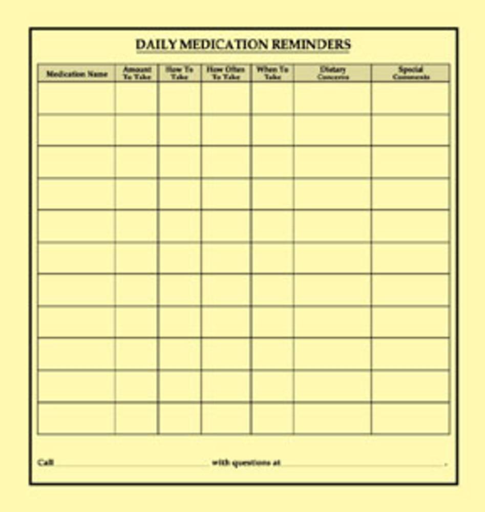 Daily Checklist   Briggs Healthcare Checklist Label Daily Medication Reminders