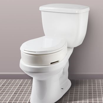 Pleasing Carex Fgb32100 Hinged Toilet Seat Riser Elongated 1 Each Bralicious Painted Fabric Chair Ideas Braliciousco