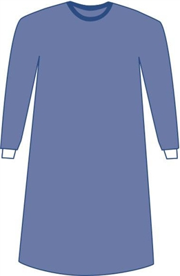 Medline Prevention Plus Breathable Film Surgical Gowns Blue