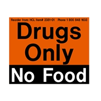 2381-01 Drugs Only, No Food Refrigerator Magnet