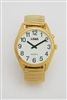 LS&S 101041 Extra Large One Button Talking Watch - Gold Tone