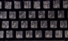 LSS-601098 Transparent Braille Keyboard Stickers