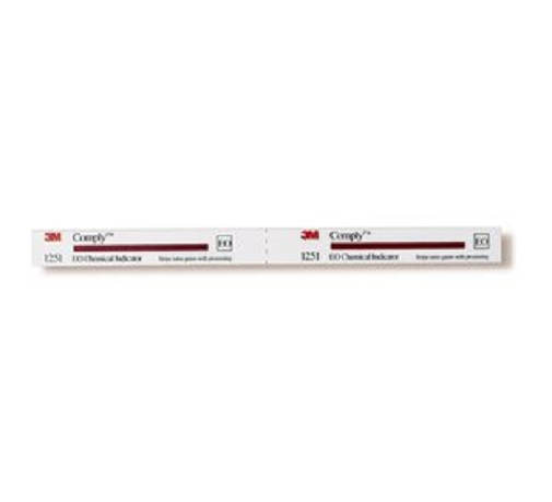 3m 1251 comply eo chemical indicator strips case of 960