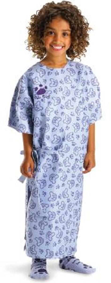 3M 81501 Bair Paws Blue Print Pediatric Warming Gown - 20 Per Case