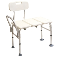 Medline MDS86952 Transfer Bench With Back Bench, Push Buttons