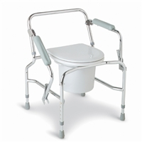 Medline MDS89668 Steel Drop-Arm Commode, Chrome Plated