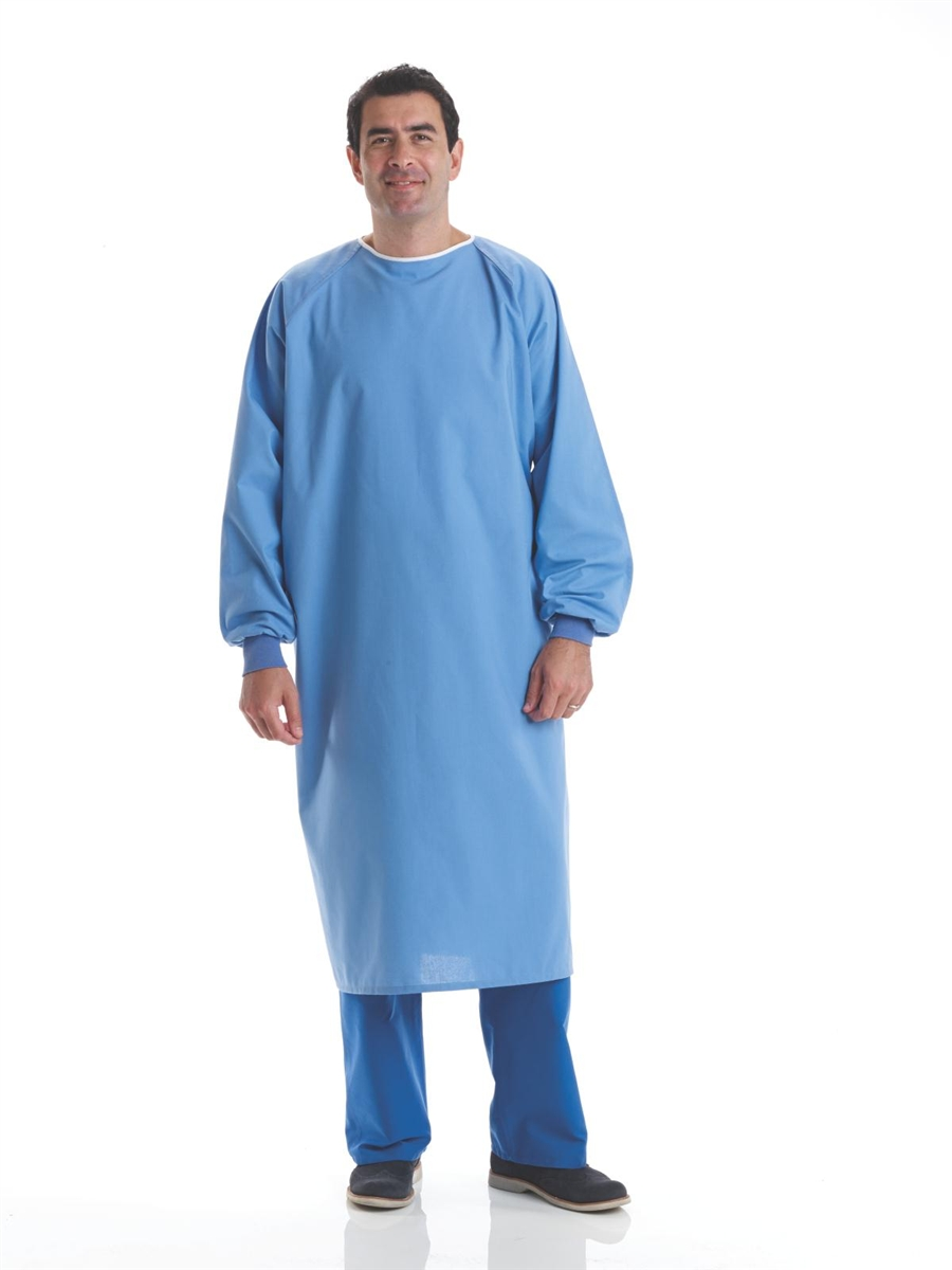 Cotton Blend Surgical Gown Ceil Blue on Devine Medical