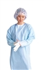 Medline-NONTH150Y Thumbs Up Polyethylene Isolation Gown, Folded, Regular,Large, Yellow - 75 Per Case