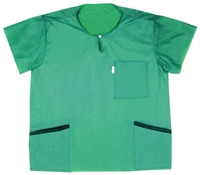 Medline Barrier  Scrub Green Shirt - 48 per case