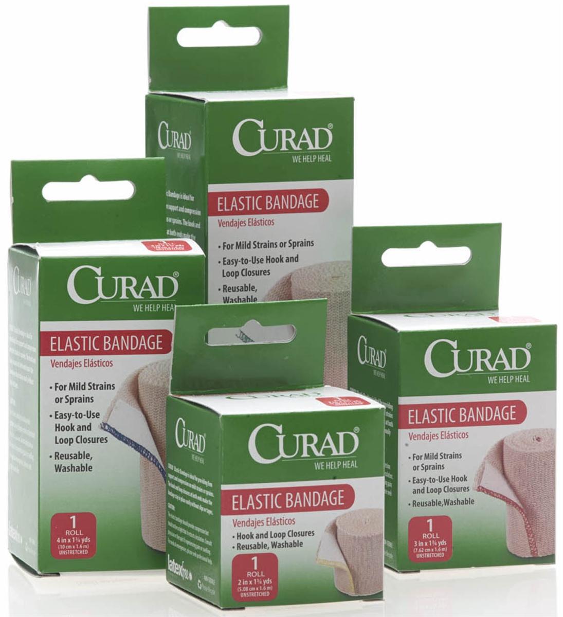 Medline Cur4902 Curad Velcro Elastic Bandage Wraps 24 Box