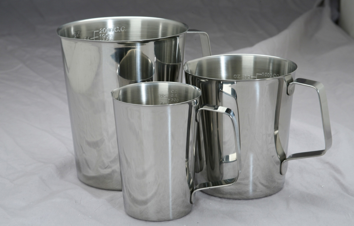 Medline Graduated Stainless Steel Pitchers-Measure