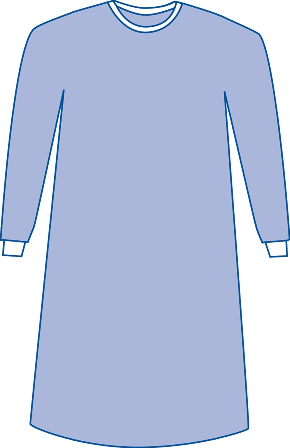 Medline DYNJP2791 Non-Sterile Non-Reinforced Aurora Surgical Gown