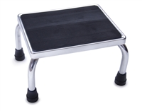 Medline MDS80430I Chrome Foot Stools with Rubber Mat-350LB-1 Each