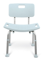 MedlineMDS89745KDMB  Knockdown (With Back) Bath Bench with Microban