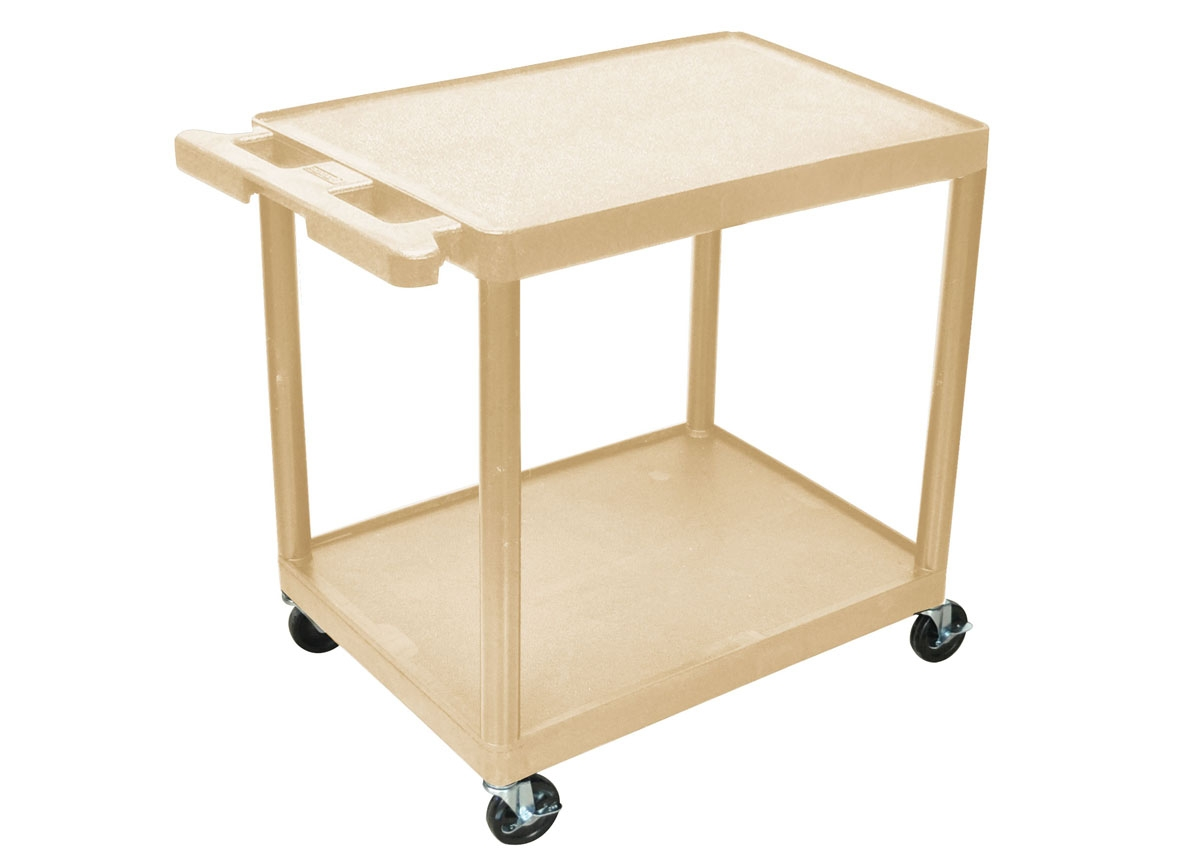 Medline HE38BLK 2-Shelf Polyethylene Tub Carts-32\