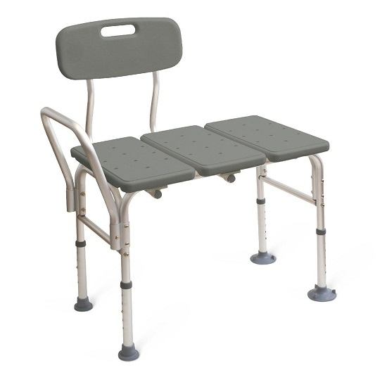 Medline Mds86952 Transfer Bench With Back Push Buttons
