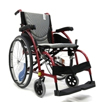 27 lbs Ultralightweight Wheelchair K0004 -18x17 Red frame