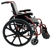 "Karman S-Ergo 115 18"" seat Ultra Lightweight Ergonomic Wheelchair with Swing Away Footrest and Mag Wheels in Red-1 each"