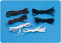 Medline Tylastic Black Elastic Shoelaces