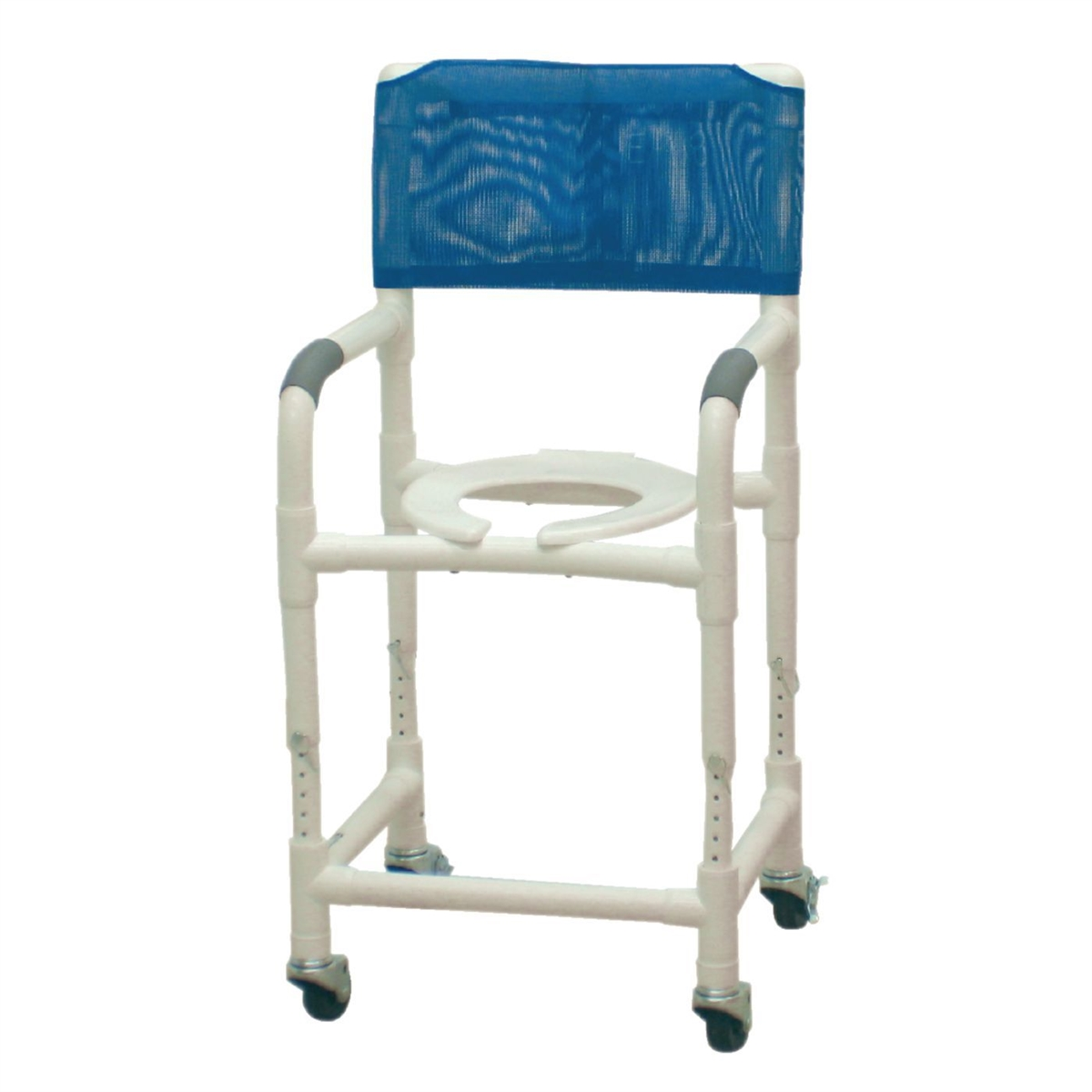 Mjm 081569003 Adjustable Height Rolling Shower Chair 1 Each