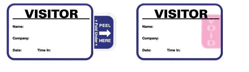 United Ad Label ULVB0805 Expiring Visitor Badge, 2-7/8